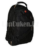 Городской рюкзак SWISSGEAR с дождевиком и USB портом, черный