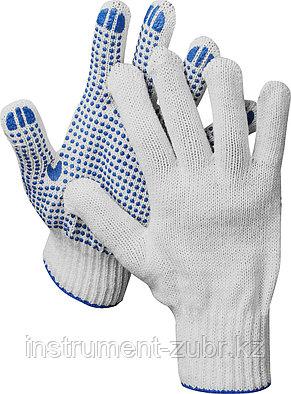 DEXX перчатки трикотажные, 10 пар, 7 класс, с ПВХ покрытием (точка), фото 2