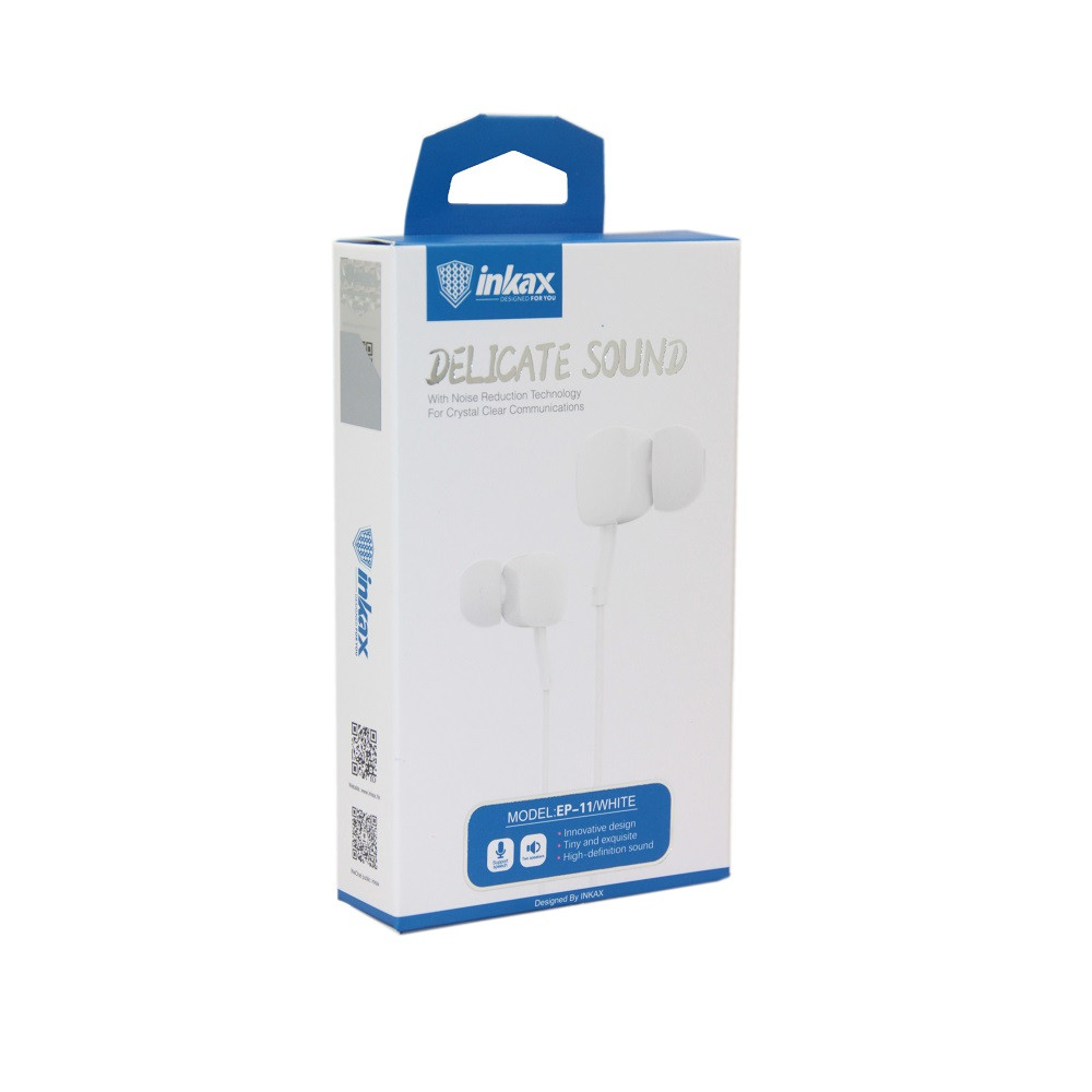 Наушники INKAX EP-11 3,5 мм White