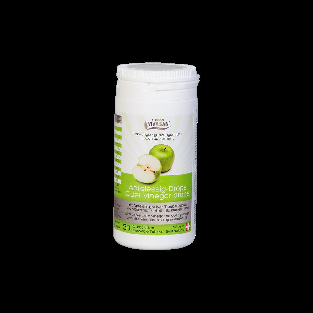 Для улучшения пищеварения, очищения, для снижения веса, ангине-Яблочный уксус в таблетках.