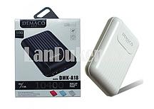 Портативное зарядное устройство DEMACO Power Bank DMK-A18 10400 mAh, белое