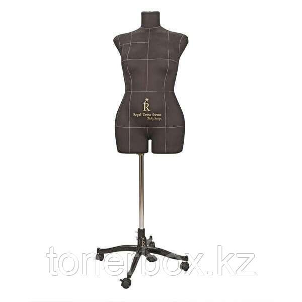 Портновский Манекен Royal Dress Forms Monica черный ( р-р 48)+стойка Милан