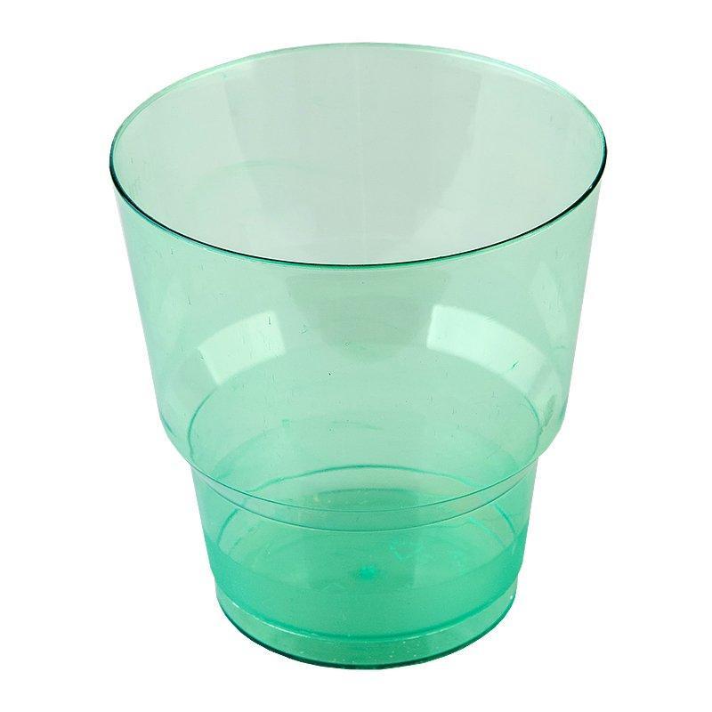 Стакан д/хол., 0.2л, зелён., кристалл, ПС, 1000 шт