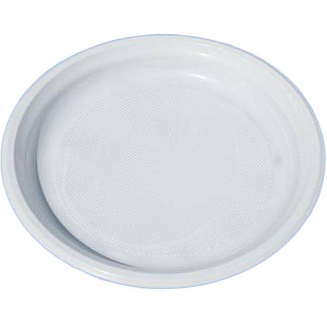 Тарелка d 220мм, бел., ПП, 750 шт