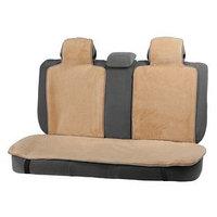 Накидки на заднее сиденье, нат. шерсть, 135 х 55 и 75 х 55 см, бежевый, набор 3 шт