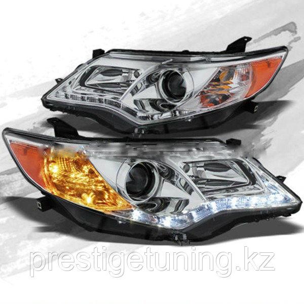 Передние фары на Camry V50 2011-14 USA Chrome