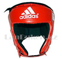 Шлем боксёрский с надписью красного цвета