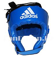 Шлем боксёрский с надписью синего цвета