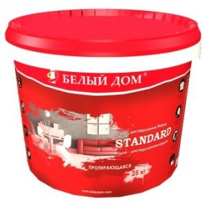 Акриловая краска STANDART 25 кг/Белый Дом
