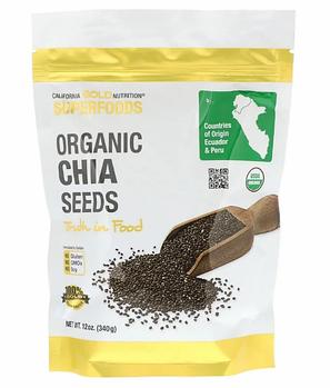 California Gold Nutrition, Суперпродукт, Органические семена чиа, 12 унц. (340 г)