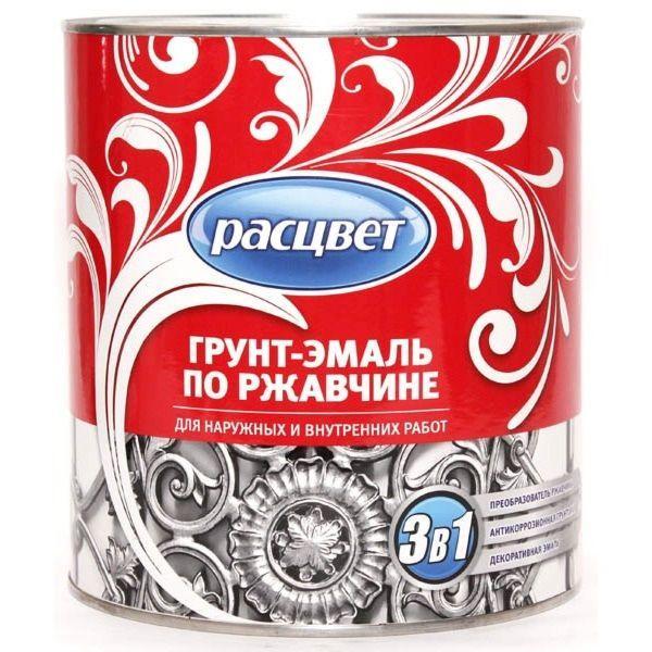 Грунт-эмаль по ржавчине шоколадная 2,7 кг/ РАСЦВЕТ