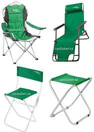 Шезлонги, складные стулья и кровати туристические