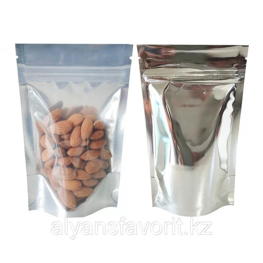 Пакет дой-пак металлизированный с прозрачной стороной и с замком zip-lock