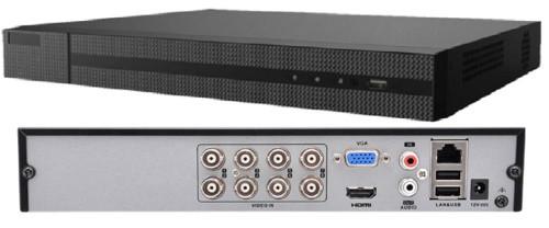 DVR-208U-K1 - 8-ми канальный гибридный видеорегистратор с разрешением записи до 8 MP на канал.