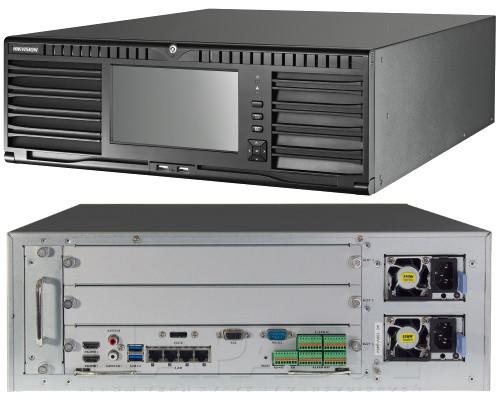 DS-96128NI-I24 - 128-ми канальный сетевой 12MP-видеорегистратор с 24-мя SATA-интерфейсами и функцией управления видеостеной.