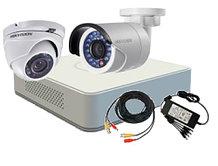 DS-J142I-3 - Комплект 4-х канальной системы видеонаблюдения с 2-мя IP-камерами.