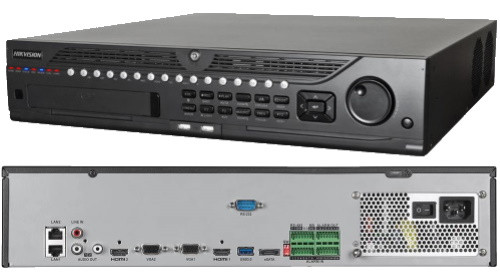 DS-9632NI-I8 - 32-х канальный сетевой 12МP-видеорегистратор с 8-ю SATA-интерфейсами.