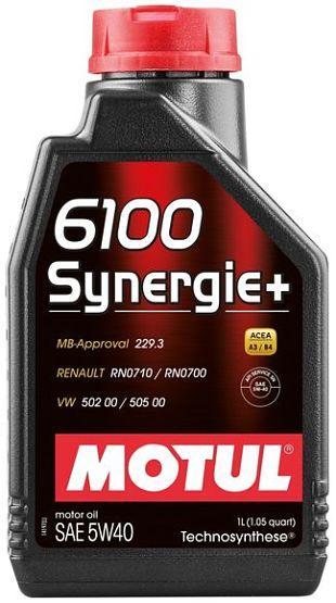 Моторное масло Motul 6100 Synergie+ 5W40 1L.