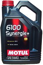 Моторное масло Motul 6100 Synergie+ 5W40 4L.