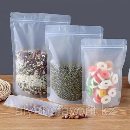 Пакет дой-пак прозрачный матовый с замком zip-lock, фото 2