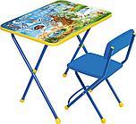 НИКА Набор мебели ХОЧУ ВСЕ ЗНАТЬ (стол +  мяг стул) h580