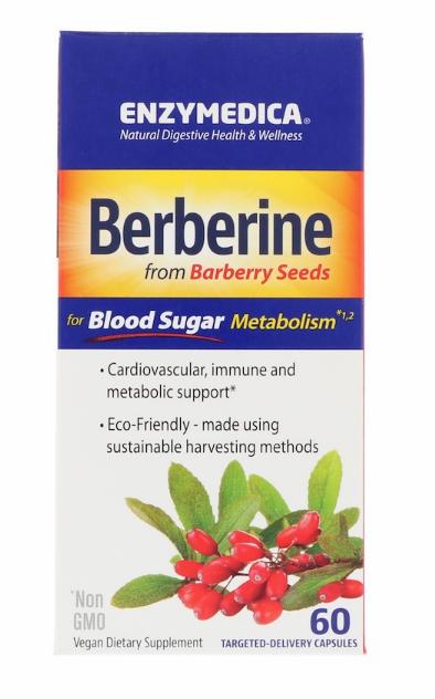 Enzymedica, Берберин, 60 капсул