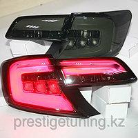 Задние фонари тюнинг на Camry V50 2011-14 черные SE/LE/XLE