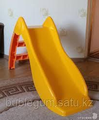 Горка - Детская (желтый, красный Дельфин)