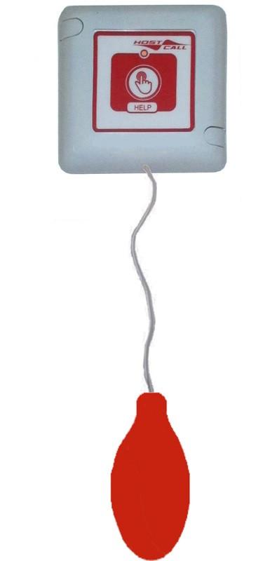 Влагозащищенная пневмокнопка вызова со шнуром MP-435W2