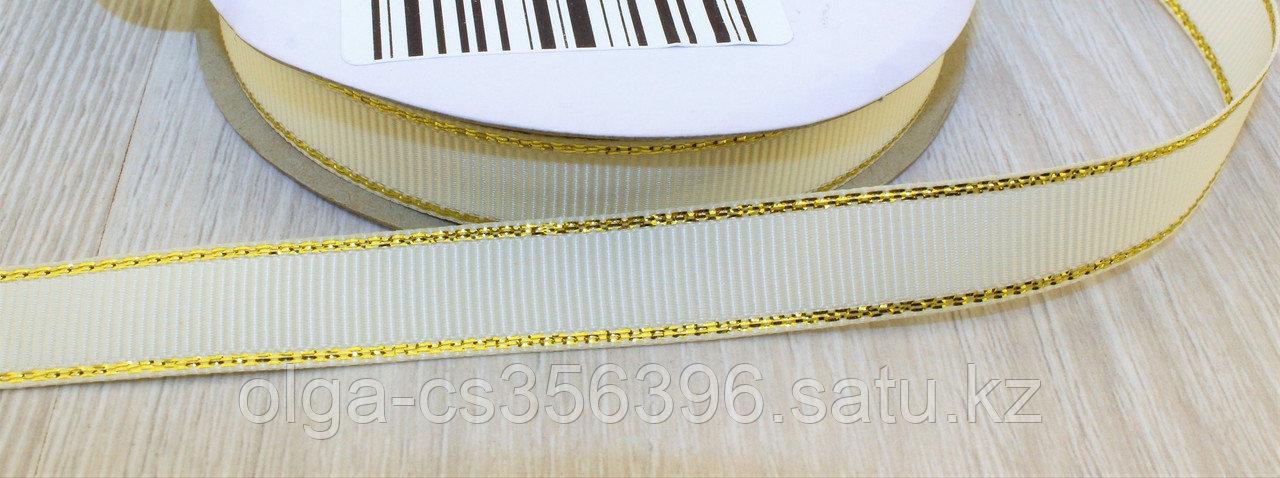 Репсовая лента с люрексом золото 12мм.  Creativ 2689