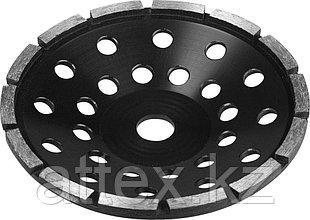Чашка ЗУБР алмазная сегментная однорядная, высота 22,2мм, 180мм 33373-180