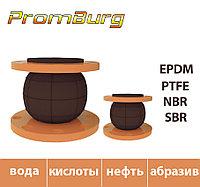 Резиновый компенсатор для щелочей и кислот Ду100 Ру10/16