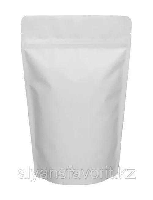 Пакет дой-пак металлизированный белый матовый с замком zip-lock