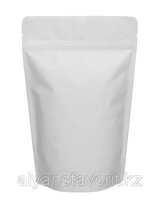 Пакет дой-пак металлизированный белый матовый с замком zip-lock, фото 2