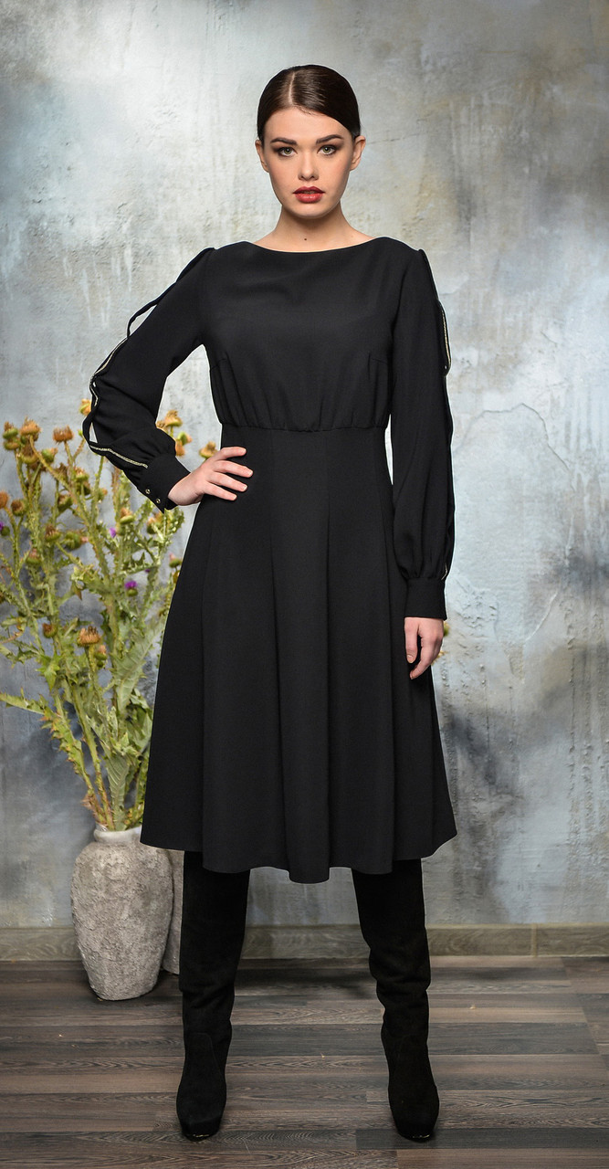 Платье Anna Majewska-А255 B, черный, 48