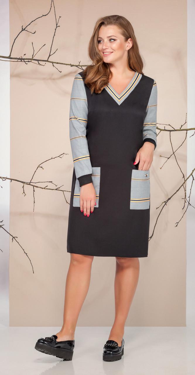 Платье Ивелта плюс-1647, черный, 50