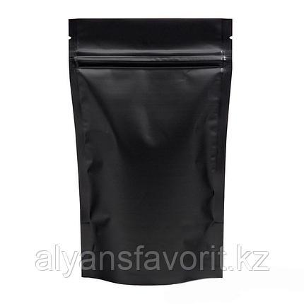 Пакет дой-пак металлизированный чёрный матовый с замком zip-lock, фото 2