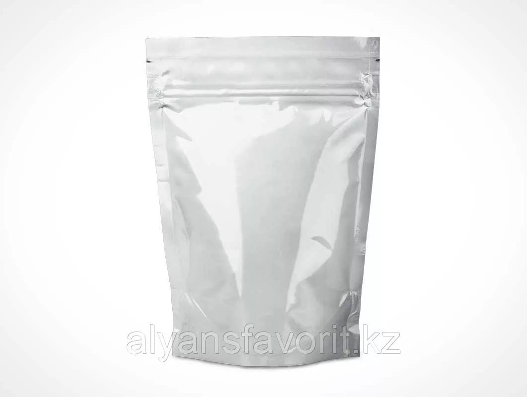 Пакет дой-пак металлизированный белый глянцевый с замком zip-lock