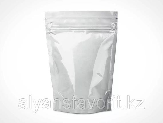 Пакет дой-пак металлизированный белый глянцевый с замком zip-lock, фото 2