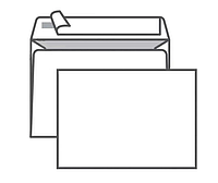 Конверт С6 KurtStrip (114х162 мм) белый, удаляемая лента, внутренняя запечатка