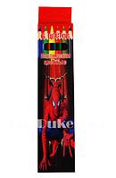 Набор цветных карандашей 6 шт color pencil Человек паук