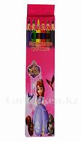 Набор цветных карандашей 6 шт color pencil Принцесса София