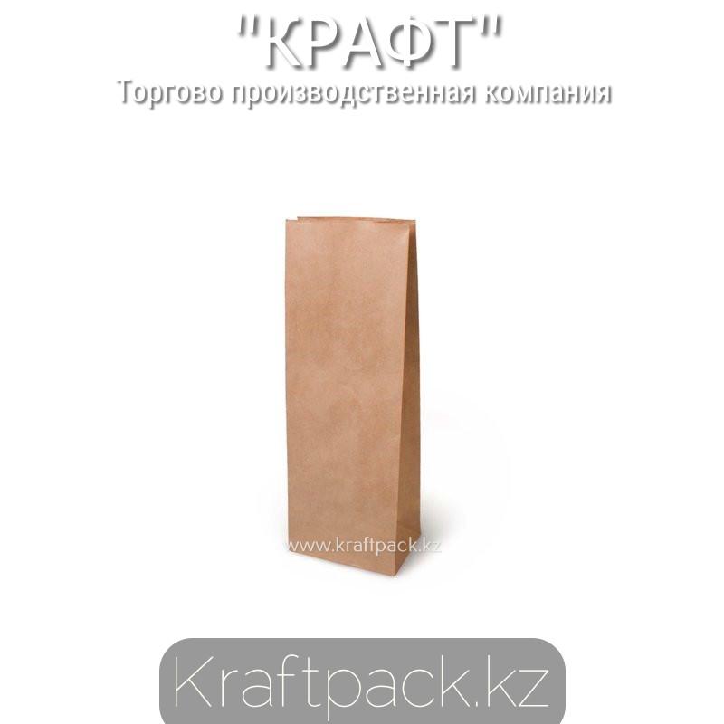 Пакет крафт 70гр, с прямоугольным дном 120*80*330 мм (350шт/уп)