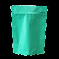 Пакет дой-пак металлизированный бирюзовый матовый с замком zip-lock
