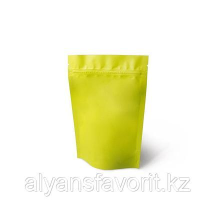 Пакет дой-пак металлизированный  желтый матовый с замком зип-лок (zip-lock), фото 2