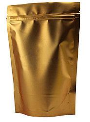 Пакет дой-пак металлизированный золотой матовый с замком zip-lock