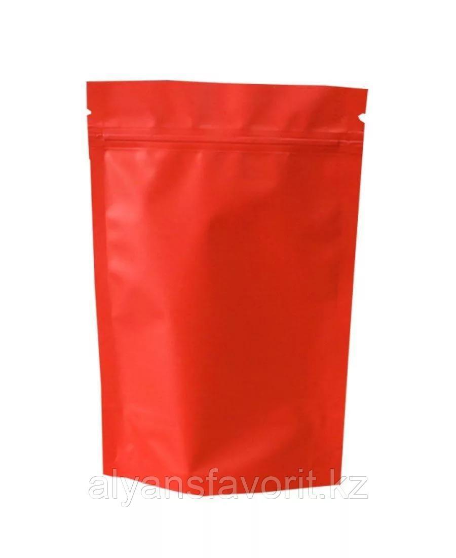 Пакет дой-пак металлизированный оранжевый матовый с замком zip-lock