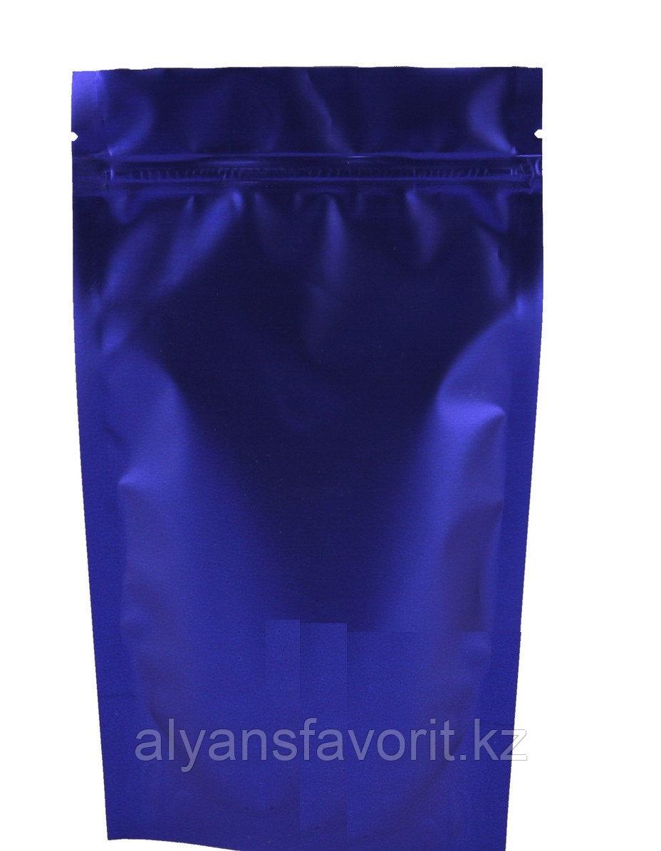 Пакет дой-пак темно синий (процесс) матовый с замком zip-lock