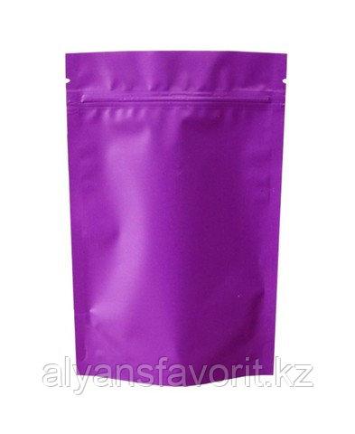 Пакет дой-пак металлизированный сиреневый матовый с замком zip-lock