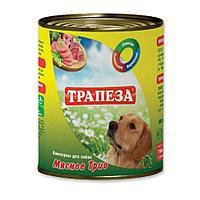 Влажный корм «Трапеза» Мясное трио» 750 гр.